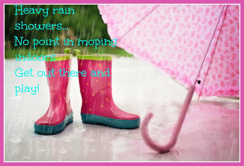 shower, rain, play, splashing